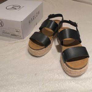 Harlow black espadrille sandals